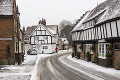 Church Street, Princes Risborough, Bucks (IFM Photographic) Tags: img0840a canon 600d ef2470mmf28lusm ef 2470mm f28l usm lseries princesrisborough princes risborough buckinghamshire bucks churchlane church street conservationarea oldlibrary radhuni snow beastfromtheeast stormemma storm emma