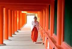 Japan- Nara- shintoist nun (venturidonatella) Tags: japan giappone nara nikon nikond500 d500 colori colors persone people gentes emozioni orange arancione nun monaca scintoismo shintoism monastero monastery shintoistmonastery abigfave bestportraitsaoi