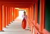 Japan- Nara- shintoist nun (venturidonatella) Tags: japan giappone nara nikon nikond500 d500 colori colors persone people gentes emozioni orange arancione nun monaca scintoismo shintoism monastero monastery shintoistmonastery abigfave