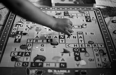 2018 day 9 - Learning time (Kellie M. Simpson) Tags: dailychallange 365 canon canon6d gametime familytime learning scrabble children hand niftyfifty 50mm canon50mm14