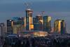 Final Glow, Edmonton [Explored] (WherezJeff) Tags: 20102019 alberta canada edmonton icedistrict jwmarriott pcl rogersplace stantec winter cityscape cranes downtown dusk skyline skyscrapers towers