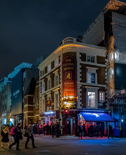 Friday Night in the City ( The Flying Horse Pub - Bishopsgate - London) (High ISO) Fujifilm X100F & 28mm Wide Lens Converter (1 of 1)
