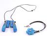 parue collier et bracelet blue (dorémifasolafimo) Tags: bijoux polymère bracelet bague boucles doreilles collier fantaisie jewerly polymer clay