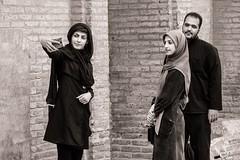 Threefold (Tom Levold (www.levold.de/photosphere)) Tags: fuji fujixpro2 isfahan esfahan street sw bw people portrait porträt selfie