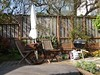 San Francisco, CA, Noe Valley, My Son's Backyard Hot Tub and Outdoor Dining Area (Mary Warren 10.0+ Million Views) Tags: sanfranciscoca noevalley backyard garden umbrella table chairs hottub fence