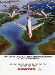Qantas Advertisement - 1982 (baytram366) Tags: qantas 1982 australian flight flying advert advertisement tourism travel planes retro vintage 1980s