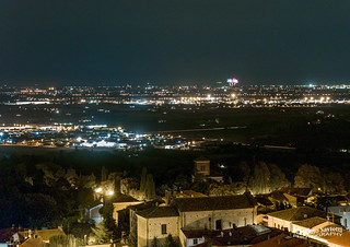 Cervia fireworks seen from Bertinoro