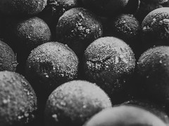 grape (YellowTipTruck) Tags: monochrome blackandwhite greyscale hiddenpurple gather multiplicity shadowandlight minimalism heap frosted round iced figured crisp texture violet grape freezing food noperson stilllife many ingredients