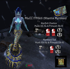 MLCC !THS18 Atlantis Mermaid Ad Pic (moonlitecat) Tags: moonlitecatcreations mlcc twisted hunt ths18 atlantis mermaid starfish bra maitreya belleza isis venus slink hourglass standard