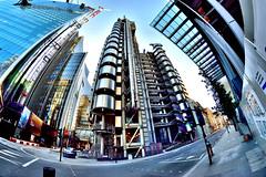Lloyd's of London (Croydon Clicker) Tags: lloyds building skyscraper steel fisheye london wideangle 1000v40f