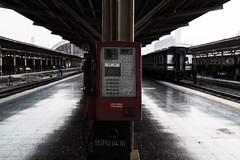 Pay Phone (adityauppoor) Tags: phone red bangkok travel travelphotography railway station nikon nikond750