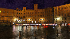 Piazza del Campo (*Sefora*) Tags: sharingart painting fotosketcher photopainting siena gimp cityscape flickr night art city painterly paintings sefora9530