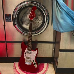 Laundry Watchdog (Pennan_Brae) Tags: offsetguitar guitarphotography musicphotography electricguitars guitars guitar shortscale fenderguitars fenderguitar fendermustang fender electricguitar