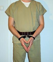 prisoner transport belt (rainerzufall1234) Tags: handcuffs handcuffed prisoner restraints shackles chains uniform inmate jail prison arrested arrest