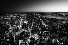 Black skyline (mathieuo1) Tags: nyc hard harsh sun sunset sundown light rays flow human architecture line sky skyscape skyline blackandwhite black lights lighttrail over city composition cityscape newyorkcity usa town building empirestatebuilding horizon work follow blur white symmetry illumination growing flows flowing travel discover nikon fullframe wide wideangle create landscape panorama view shadow night nightscape scape mathieuo