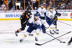 "Kansas City Mavericks vs. Toledo Walleye, January 19, 2018, Silverstein Eye Centers Arena, Independence, Missouri.  Photo: © John Howe / Howe Creative Photography, all rights reserved 2018. • <a style=""font-size:0.8em;"" href=""http://www.flickr.com/photos/134016632@N02/25965926678/"" target=""_blank"">View on Flickr</a>"