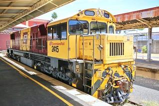 Queensland Rail locomotive 2415 parked Toowoomba Railway Station
