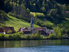Swiss Church (Niclas Matt) Tags: church swiss switzerland lake green summer houses nikon landscape landscapephotography nikond90 nikonphotography trees water panasonic lumix ngc national natgeo fineart