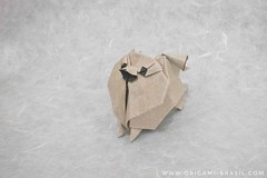 35/364 Pomeranian by 212moving (origami_artist_diego) Tags: origami origamichallenge 365days 365origamichallenge pomeranian dog lulu