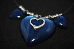 Blue Hearts! (suekelly52) Tags: heartshaped smileonsaturday hearts blue jewellery silver
