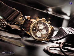 BREITLING – NAVITIMER 8 B01 Chronograph Bronze-colored Dial Red Gold 43 mm Brown alligator strap (Watches 7) Tags: breitling navitimer8b01 rb011713 2018 chronograph