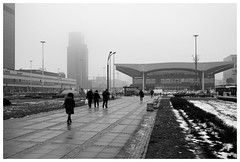 On a foggy day (awbaganz) Tags: fog warsaw poland polska warszawa cityscape station pavement architecture building strangers wet winter dworzec fujifilm xpro2 xf23