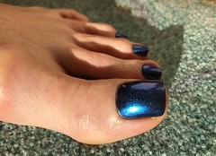 OPI - Miss Piggy's Big Number (toepaintguy) Tags: male guy men man masculine boy nail nails fingernail fingernails toenail toenails toe foot feet pedi pedicure sandal sandals polish lacquer gloss glossy shine shiny sexy fun daring allure gorgeous opi blue vivid piggy miss metallic