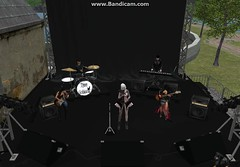 Music Time !! (syddarkaless) Tags: tcod design mesh concert stage tent microphone stand guitar amplifier bass electronic piano drum animation menu intrument music speakers spotlight