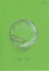 Eternal snow (Klaas van den Burg) Tags: snow ball glass humor absurd sarcasm pencil greenpaper color