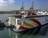 High speed catamaran ferry (Tony Tomlin) Tags: algeciras spain ferry catamaran waterjet