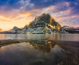Canadian Rocky Mountains Bow peak sunset