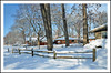 A Winter Wonderland For Your Fence Friday (sjb4photos) Tags: michigan annarbor washtenawcounty winter snow fence fencefriday hff