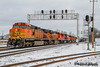 BNSF 4011 | GE C44-9W | BNSF Thayer South Subdivision (M.J. Scanlon) Tags: bnsf4011 ge c449w bnsf bnsfrailway bnsfthayersouthsub burlingtonnorthernsantafe burlingtonnorthernsantaferailway cnjunction broadway snow cold white gloomy cloudy clouds downtown signal signalbridge memphis tennessee tree sky digital merchandise commerce business wow haul outdoor outdoors move mover moving scanlon mojo canon eos engine locomotive rail railroad railway train track horsepower logistics railfanning steel wheels photo photography photographer photograph capture picture trains railfan memkck bnsfmemkck