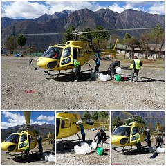 Mt. Everest Helicopter Expedition (posterboy2007) Tags: lukla nepal collage refueling h125 helicopter