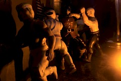 Paprihaven 1292 (MayorPaprika) Tags: canoneos50d 112 custom diorama toy story paprihaven action figure set 80s 90s dark alley thug henchman martialarts dc dcdirect huntress drmidnite