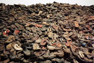 Shoes of jews from Auschwitz