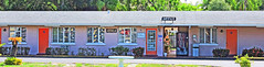 a Florida project-5 (albyn.davis) Tags: usa florida motel colors colorful bright purple orange windows doors building reflections light travel america americana