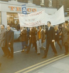 Post Office Workers Strike Bury St Edmunds Telephonists   1971 (Bury Gardener) Tags: oldies old snaps scans people folks postoffice union upw burystedmunds suffolk england eastanglia uk