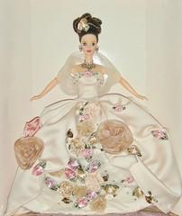 1996 Antique Rose Barbie (3) (Paul BarbieTemptation) Tags: 1996 antique rose barbie limited edition fao schwarz mackie fantasy