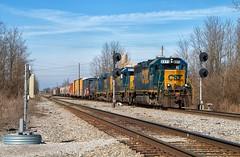 C701 - North Cabin (Wheelnrail) Tags: emd gp402 locomotive rail road rails searchlight signals cc subdivision winchester kentucky ky southern csxt c701 local csx