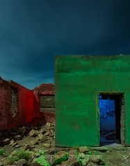The Green, The Blue, and the Red (8798) (Ken Lee Photography) Tags: nikon astrophotography startrails ghosttown abandoned urbex urbanexploration night lightpainting nevada rhyolite kenlee kenleerhyolitenevadanightlightpaintingastrophotographyabandonedurbexurbanexploration
