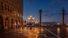 Good morning Venice (hjuengst) Tags: venice venedig italy italien stmark´ssquare markusplatz sunrise sonnenaufgang streetlight strasenlampe spring bluehour blauestunde bluesky orange sanmarco