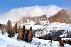Vigo di Fassa (lucamarasca1) Tags: trentinoaltoadige inexplore snow 18200mm d5500 nikkor nikon view paesaggio panorama panoramic montagne dolomiti alpi dolomites alpes sky clouds mountains nature background landacape paesaggioitaliano italy altoadige vigodifassa passocostalunga