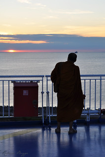The monk and the sunset