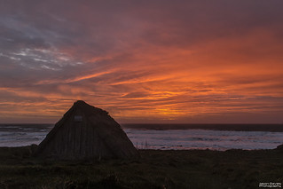 Freshwater west at sunset