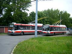 Brno trolleybuses Nos. 3023 and 3020. (johnzebedee) Tags: trolleybus transport publictransport vehicle brno czechrepublic johnzebedee skoda skoda21tr