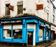 Fish & Chips on Tib Street (PDKImages) Tags: manchesterstreetart street art manchester streets streetart urban posterart pasteup streetscenes fishchips chippie fishandchips