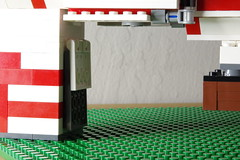 Entry Lift Raised (Evrant) Tags: star wars hammerhead corvette interior custom moc lego spaceship