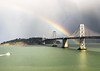 rainbow across the bay bridge (Aqua and Coral Imagery) Tags: rain sun rainbow sf sanfrancisco city nature bay baybridge colors colorful glow bright beauty