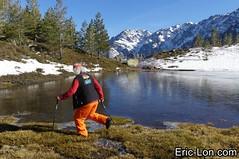 Corsica frozen lake Asco (38) (Eric Lon) Tags: corsica corse france island ile mountains montagne meretmontagne mareimonti pine pin laricio neige snow lac lake bath bain ice glace trek trekking ericlon